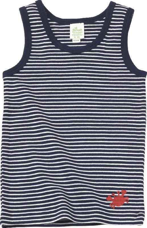 ALANA Kinder Unterhemd, Gr. 110, in Bio-Baumwolle, blau, weiß