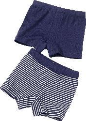 ALANA Doppelpack Unterhosen, Gr. 110, in Bio-Baumwolle, blau, weiß