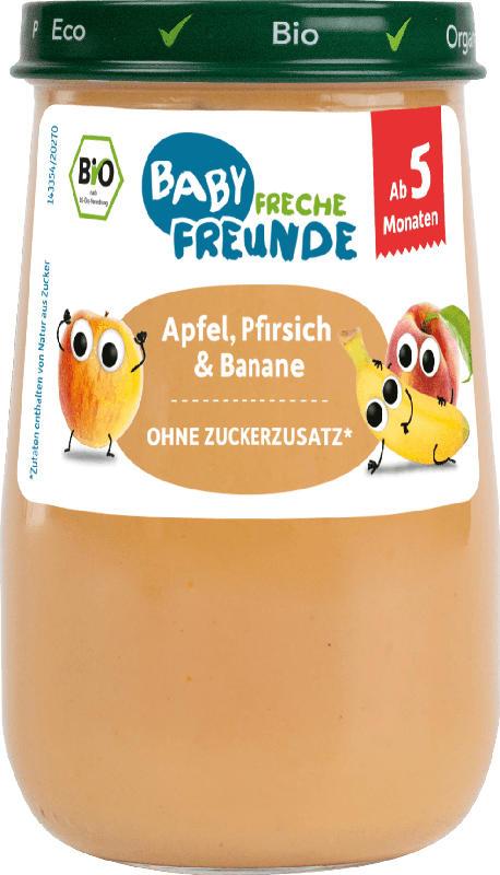 Freche Freunde Früchte Apfel, Pfirsich & Banane, ab dem 5.Monat
