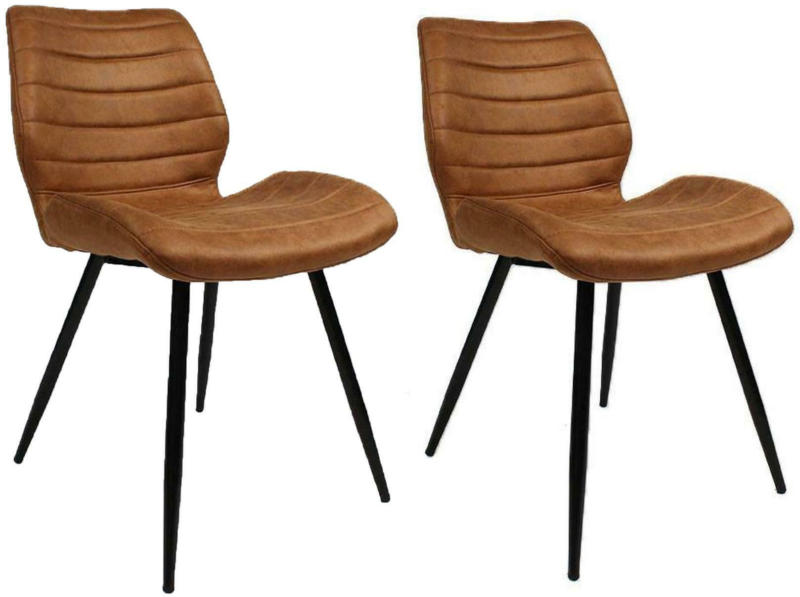 Stuhl-Set in Braun ´MORRIS´