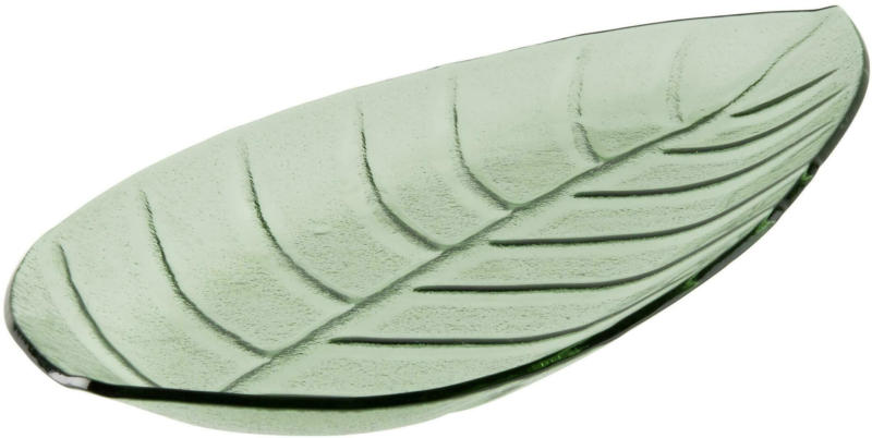 Dekoteller Leaf in Grün