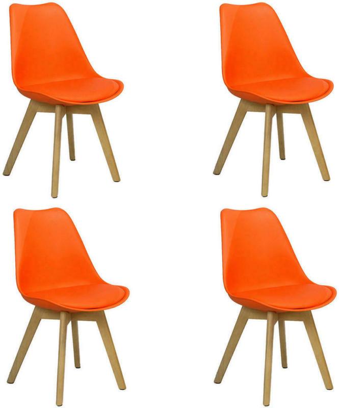 Stuhl-Set in Kunststoff Orange