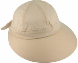 Schirmkappe, mit Schweißband, beige beige