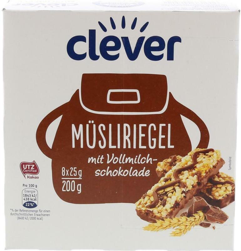 Clever Müsliriegel Schokolade