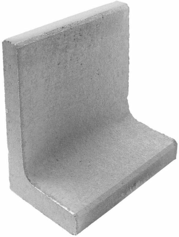 L-Steine, 40x40x30x7 cm, Grau