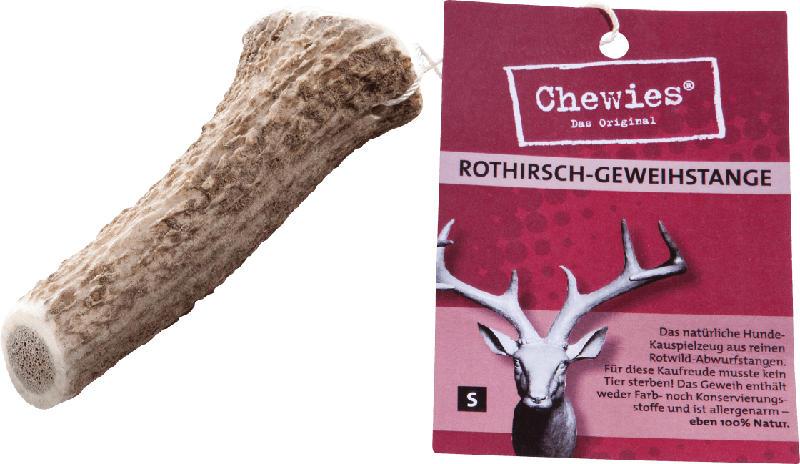 Chewies Snack für Hunde, Rothirsch Geweihstange, Gr. S