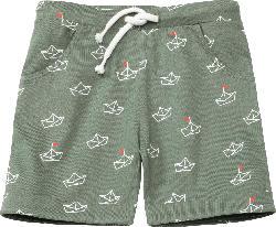 ALANA Kinder Shorts, Gr. 98, in Bio-Baumwolle, grün