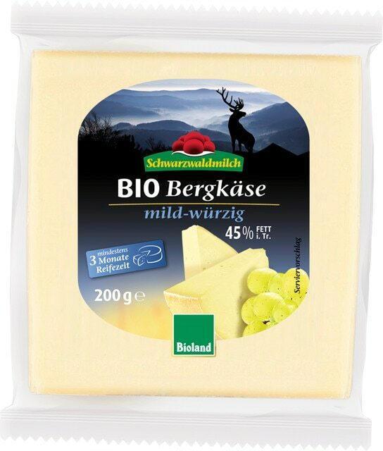 Schwarzwaldmilch Bio Bergkäse mild-würzig