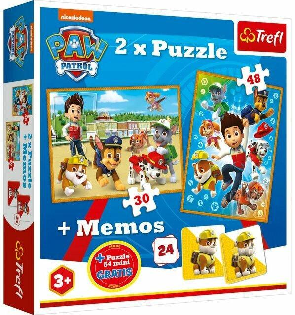 Trefl PAW PATROL Puzzles und Memos