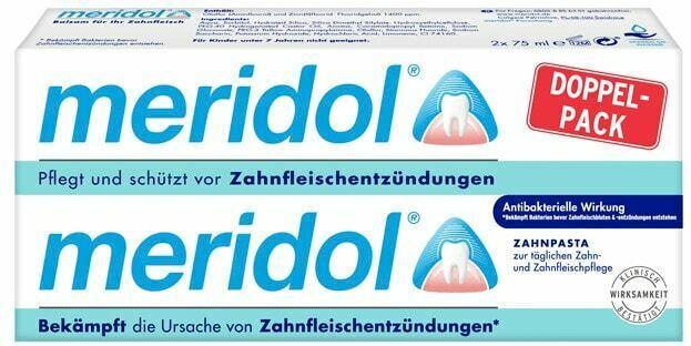 Meridol Zahncreme oder Aronal + Elmex