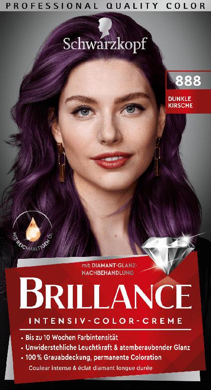 Schwarzkopf Brillance Haarfarbe Dunkle Kirsche 888