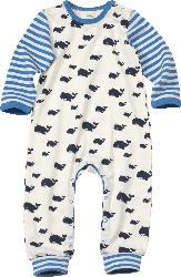 ALANA Baby Schlafanzug, Gr. 86/92, in Bio-Baumwolle, weiß, blau