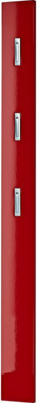 """Garderobenpaneel """"Home"""", Hochglanz, mit ausklappbare Kleiderhaken, 15x170x4 cm, rot"""