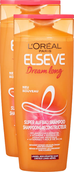 Shampooing Dream long L'Oréal Elsève, 2 x 250 ml