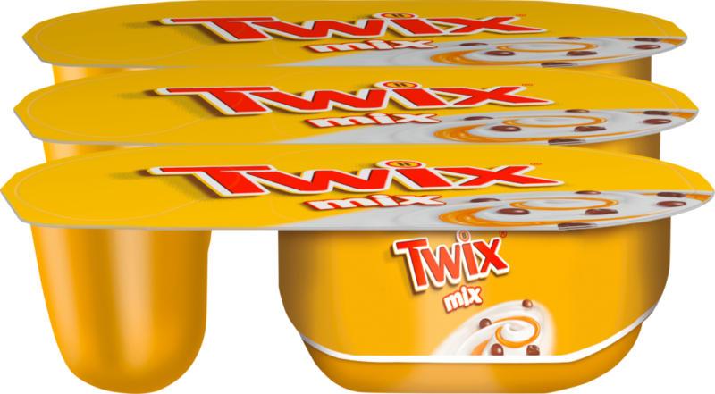 Danone Joghurt, Twix mix, mit Caramelsauce, 3 x 120 g