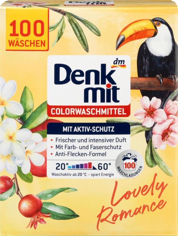 Denkmit Colorwaschmittel Pulver Lovely Romance 100 WL