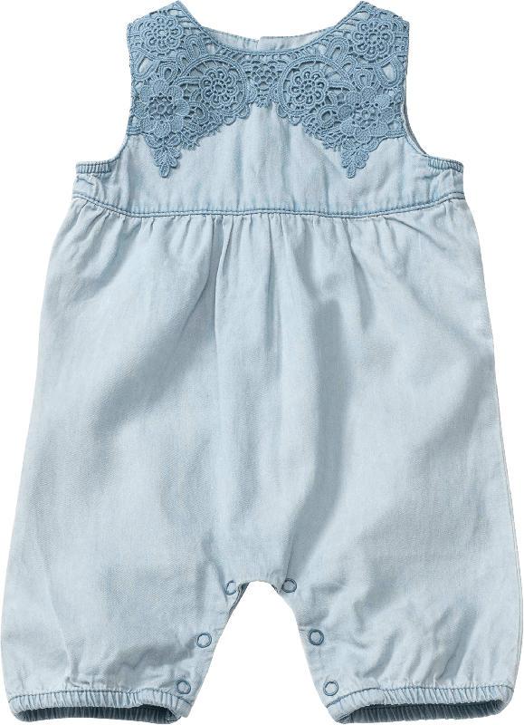 PUSBLU Baby Spieler, Gr. 68, in Baumwolle, blau