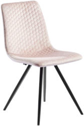 Stuhl in Textil Rosa, Schwarz