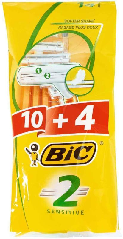 BiC Rasoi monouso 2 Sensitive 10 + 4 pezzi -
