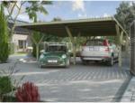 HELLWEG Baumarkt Doppelcarport Y-Form, mit PVC-Dach