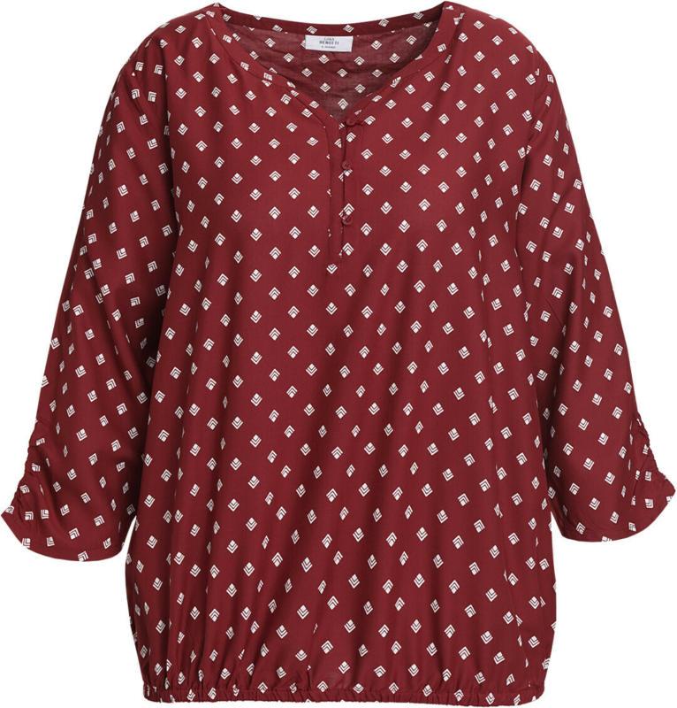 Damen Bluse mit Allover-Musterung (Nur online)