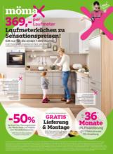 mömax Flugblatt - Laufmeterküchen zu Sensationspreisen!