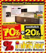Möbel Inhofer - Großer Küchen-Abverkauf