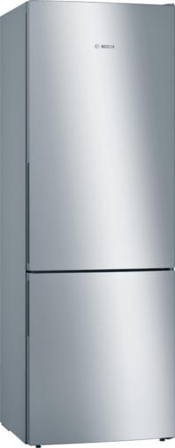 Bosch Serie   6 Freistehende Kühl-Gefrier-Kombination mit Gefrierbereich unten201 x 70 cm Edelstahl