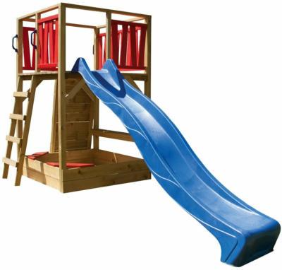 Spielturm Fun kesseldruckimprägniert 220 cm x 160 cm x 430 cm