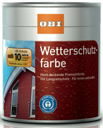 OBI Wetterschutzfarbe Anthrazit seidenmatt 750 ml