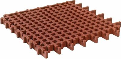 Rasengitter-Fallschutzplatte Rot 100 cm x 100 cm x 4,5 cm