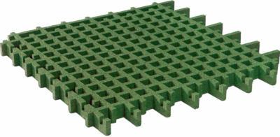Rasengitter-Fallschutzplatte Grün 100 cm x 100 cm x 4,5 cm