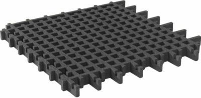 Rasengitter-Fallschutzplatte Schwarz 100 cm x 100 cm x 4,5 cm