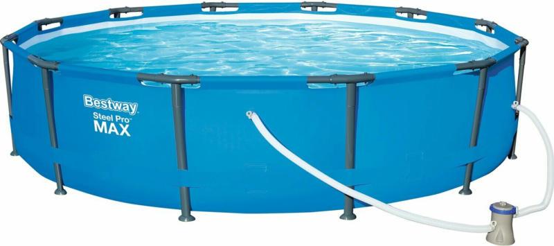 Bestway Stahlrahmen-Pool Set Ø 366 cm x 76 cm