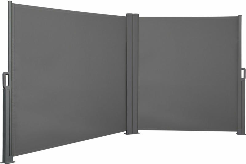 Vertikalmarkise Cordoba 2-seitig je 300 cm x 150 cm Anthrazit