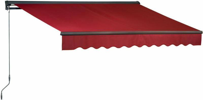 OBI Hülsenmarkise Bedford 300 cm x 200 cm Berryrot