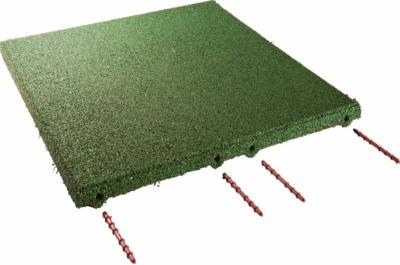 Fallschutzplatte/ElastikmatteGrün 50 cm x 50 cm x 3 cm