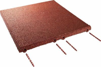 Fallschutzplatte/ElastikmatteRotbraun 50 cm x 50 cm x 3 cm