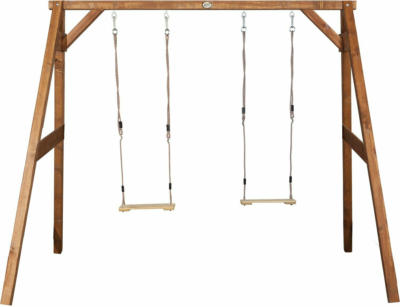 Schaukel Double Swing Braun