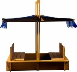 Sandkasten mit schwenkbarem Dach 120 cm x 120 cm x 120 cm
