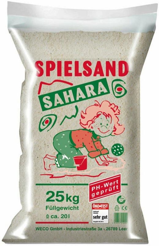 Weco Spielsand Sahara 25 kg/Sack