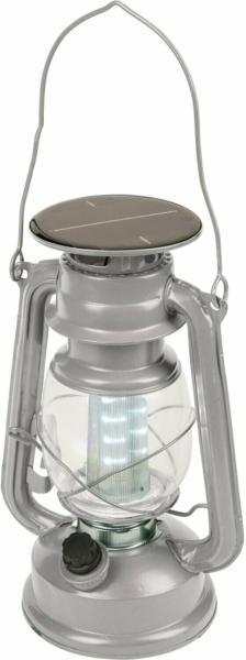 Happy People LED Campinglaterne Silber/Grau 3,7 V 15 x 11,5 x 24 cm