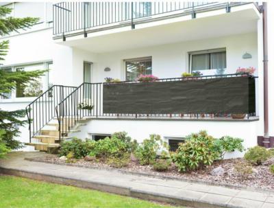 Balkonbespannung Anthrazit 90 cm x 500 cm