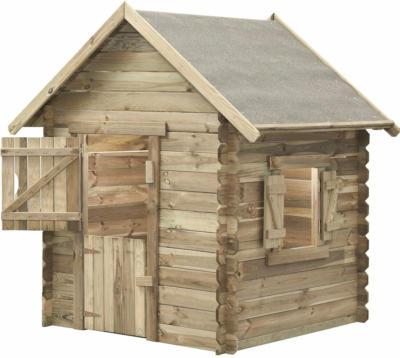 SwingKing Spielhaus Louise 160 cm x 120 cm x 120 cm davon 10 cm Dachüberstand