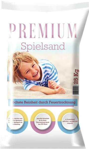 Spielsand Premium feuergetrocknet 25 kg/Sack