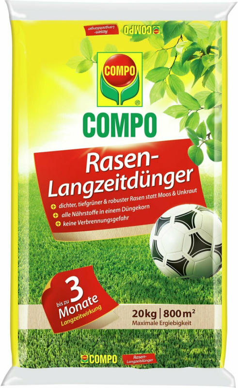 Compo Rasendünger 20 kg mit Langzeitwirkung