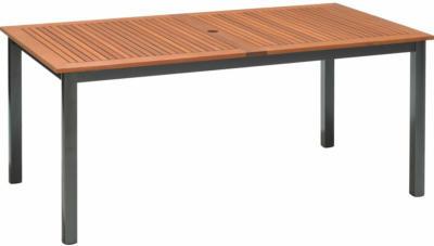 Gartentisch Harris Rechteckig FSC®-Holz/Aluminium Anthrazit 166 cm x 90 cm