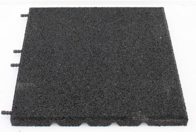 Fallschutzplatte Schwarz 40x40x3 cm