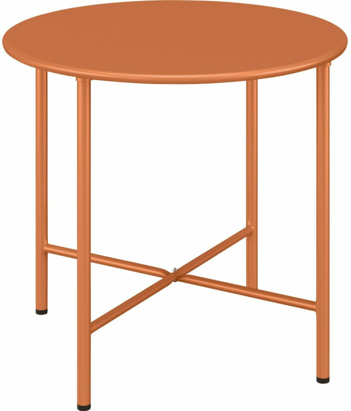Gartentisch Corani Rund Orange 45 cm x Ø 50 cm