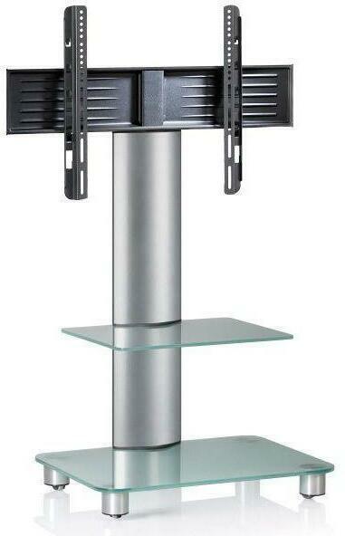 TV-Rack in Silberfarbe/ Transparent 'Tosal B: 60 CM'